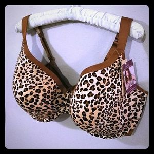 Cacique Leopard French Full Coverage Bra